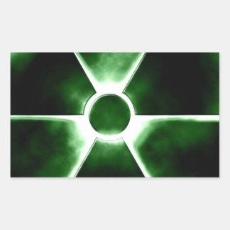 Radiation symbol rectangular sticker