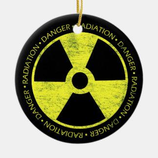 Radiation Symbol Round Ceramic Decoration