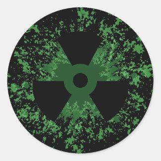 Radiation Symbol Splat Round Sticker