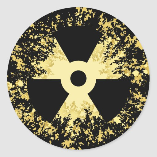 Radiation Symbol Splat Sticker