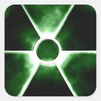 Radiation symbol square sticker