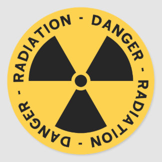 Radiation Symbol Sticker