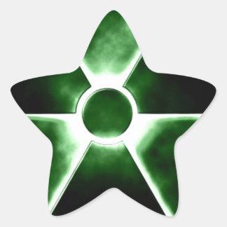Radiation symbol star sticker