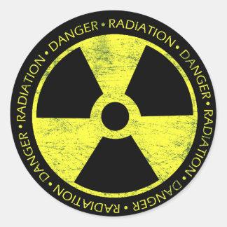 Radiation Symbol Round Stickers
