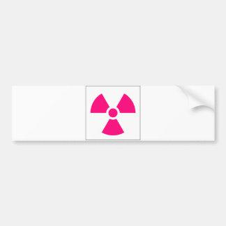 Radiation Trefoil Sign Symbol Warning Sign Symbol Bumper Sticker