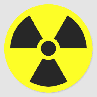 Radiation Trefoil Symbol Round Sticker