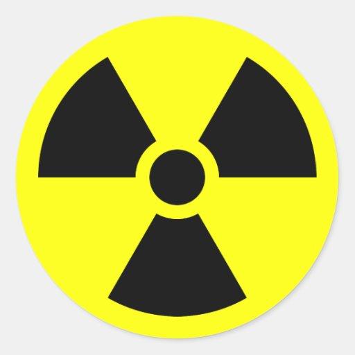 Radiation Trefoil Symbol Round Sticker