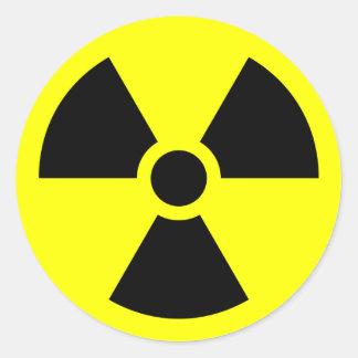 RADIATION WARNING CLASSIC ROUND STICKER