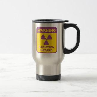 Radiation Warning Sign Stainless Steel Travel Mug