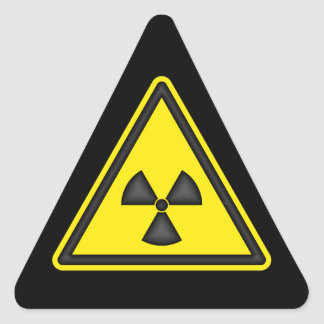 Radiation Warning Sign Sticker