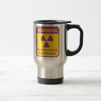 Radiation Warning Sign Travel Mug