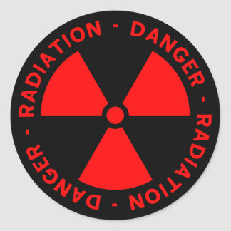 Radiation Warning Sticker