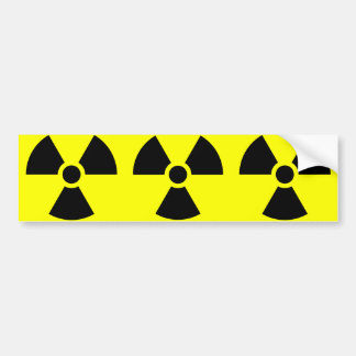 Radiation Warning Symbol Bumper Sticker