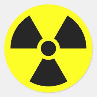 Radiation Warning Symbol Round Sticker