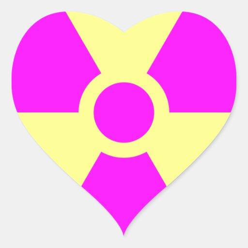 Radiation Warning Symbol Sticker