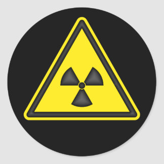 Radiation Warning Symbol Sticker