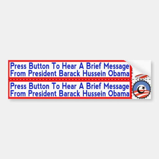 Radical Islamist Obama Stickers for Hand-Dryers Bumper Sticker