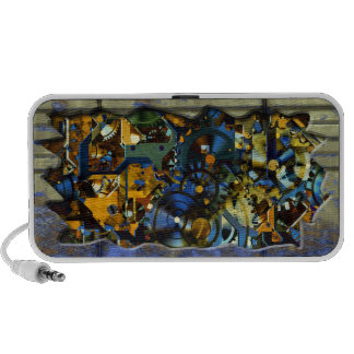 Radical Steampunk 8 Doodle Laptop Speakers