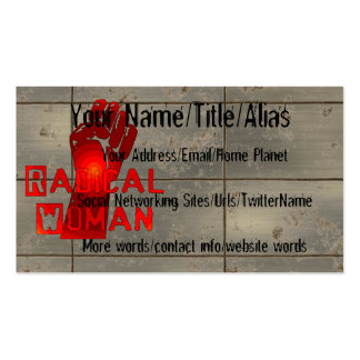Radical Woman Pack Of Standard Business Cards