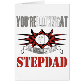 Radically Awesome Stepdad Greeting Card