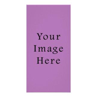 Radient Orchid Violet Light Purple Color Template Photo Card Template