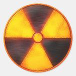 radio activ classic round sticker