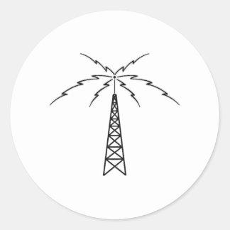 Radio Antenna Round Sticker