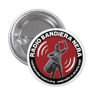 radio bandiera nera 3 cm round badge