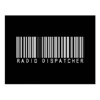 Radio Dispatcher Bar Code Postcard