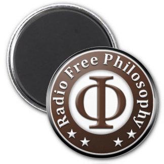 Radio Free Philosophy 6 Cm Round Magnet