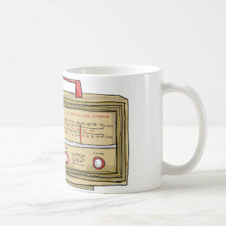 radio hand drawn basic white mug