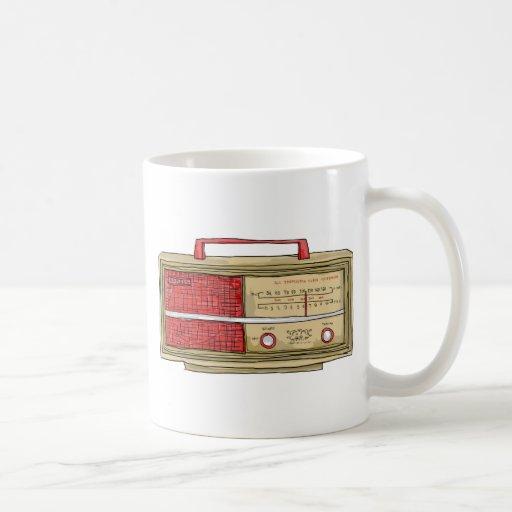 radio hand drawn coffee mug