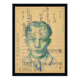 Radio Head #6 Vintage Ham Radio Record Art Postcard