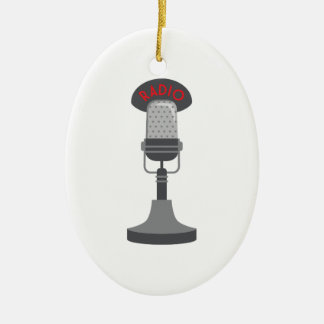 Radio Microphone Christmas Ornament