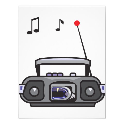 Radio Playing Music Invitations