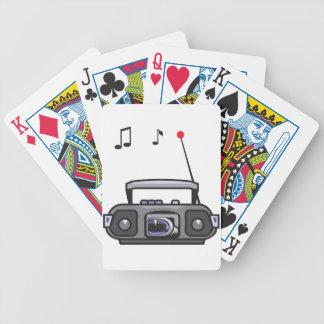 Radio Playing Music Playing Cards