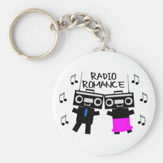 Radio Romance Basic Round Button Key Ring