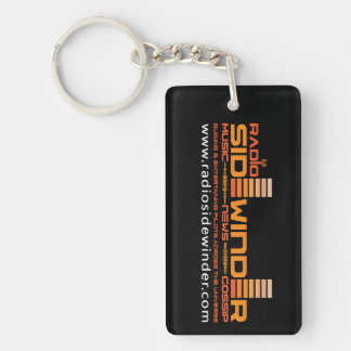 Radio Sidewinder Keyring Double-Sided Rectangular Acrylic Key Ring