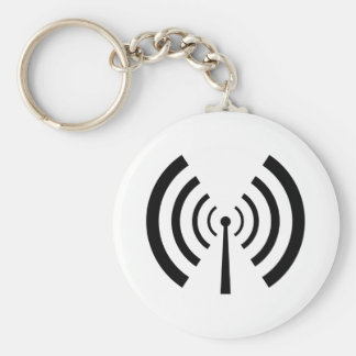 Radio Signal Bars Basic Round Button Key Ring