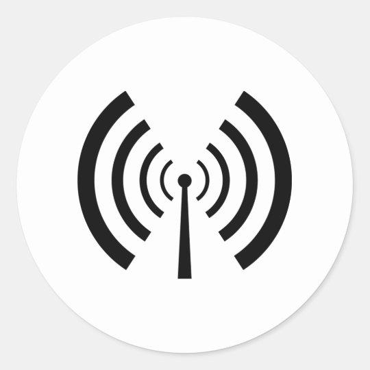 Radio Signal Bars Classic Round Sticker