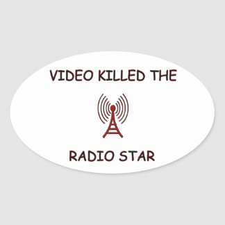 RADIO STAR OVAL STICKER