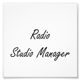 Radio Studio Manager Artistic Job Design Photo Print