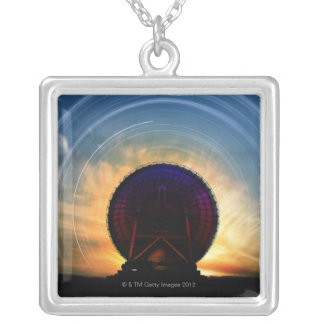 Radio Telescope 2 Silver Plated Necklace