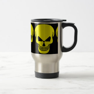 radioactive-154326 SKULL YELLOW BLACK DANGEROUS DA Mugs