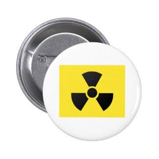 radioactive 6 cm round badge
