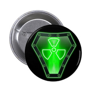 Radioactive 6 Cm Round Badge