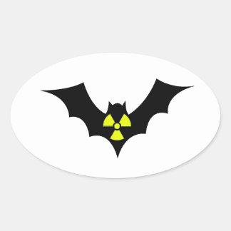 Radioactive Bat Oval Sticker