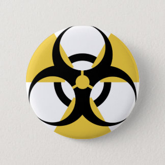 Radioactive Biohazard 6 Cm Round Badge