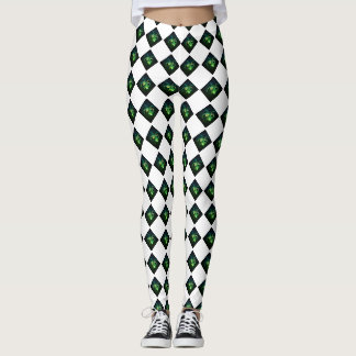 Radioactive Checkered Spider Leggings