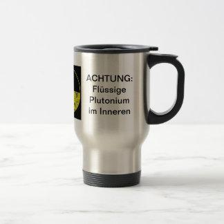 Radioactive coffee stainless steel travel mug